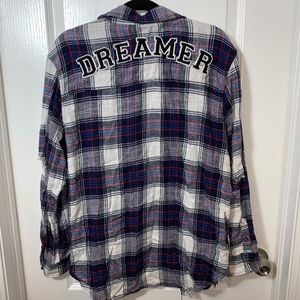 American Eagle Distressed Dreamer Flannel Large